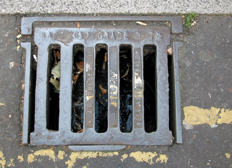 blocked gully drain